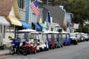 Transportation around Avalon is by golf cart.  You can rent them to go exploring but it is not cheap!
