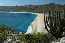 Sun, beach, cactus, sparkling blue water  -  we must be in the Sea of Cortez!