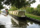 Usually, however, the canals are four or five boatwidths across as at this peaceful mooring just below the town of Stone.