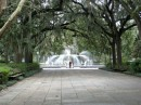 Forsythe Park, covering thirty acres on the North side of Savannah