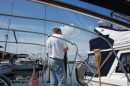 Building the bimini/solar panel frame