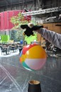 look at this ball floating in air...when i learn to fly I will do the same thing
