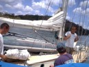 Getting rafted up with s/v Java Moon