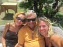 Richard, Cayley & I celebrating getting to Sardinia after sailing for 200 miles.