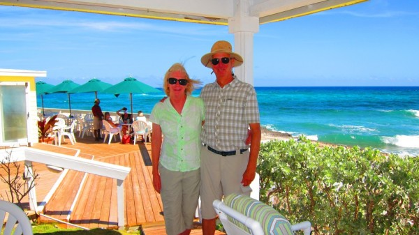Susan and me at the Abaco Inn
