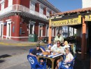 IMG_0522: Enjoying lunch at a corner cafe in Olas Altas, Old Town Mazatlan