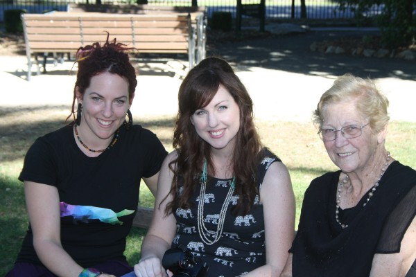 Christmas last year with my daughters Amanda, Cindy and my Mum