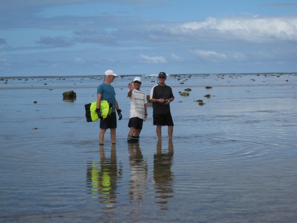 Kevin, Tony and John explore as the tide comes in