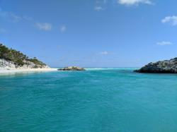 Shroud mangrove creek exiting into Exuma Sound