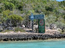 Entrance to one of the mangrove creeks on Shroud Cay