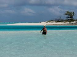 Sand bars, North end of Hawksbill Cay