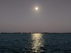 Full moon, Shroud Cay