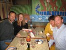 David, Brooke, Donna and Wayne enjoying dinner at the Africa Cafe in Cape Town