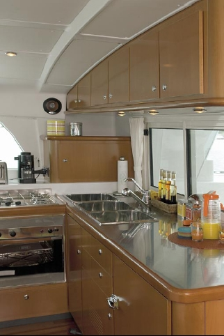 Galley with Cabinets: Once you leave the owner