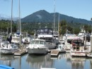 Mount Tamalpais in the background while at the dock in the Marin Yacht Club, San Rafael.