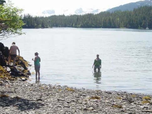 On-the-Beach-By-Mink-Isl-01: Beach Combing Mink Island.