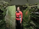 Inside Unstan Chambered cairn, Orkney