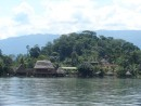Views of Rio Dulce, native homes