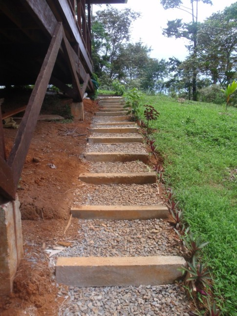 Steps up from bodega to house
