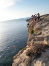 Cliff jumping in Tunisia