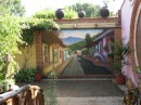 another mural on outside wall of restaurant in El Quilite