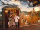 mural on wall of restaurant, Ed, Cliff, & Lynne