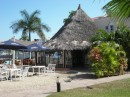 Palapa restaurant at Isla Marina