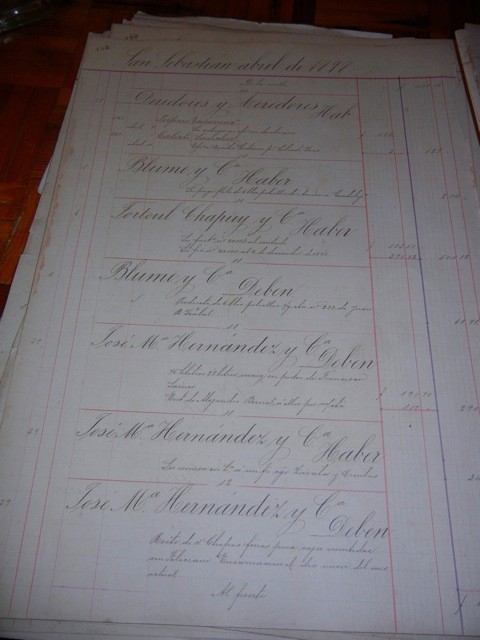 One of the original ledgers from when the Hacienda was a Silver Mining operation in the 1800