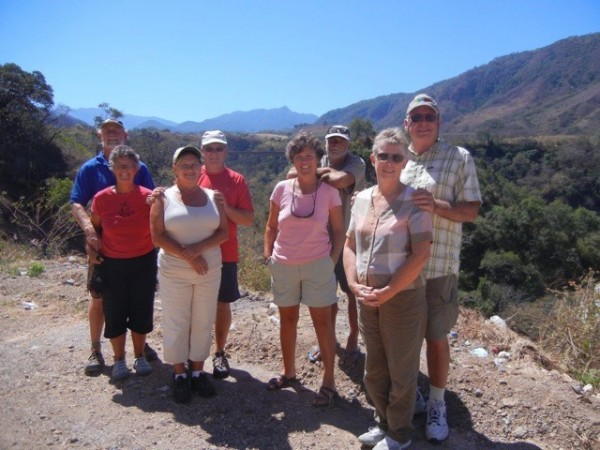 This is our group L-R, Anne & Dick sv Full & Bye, Bob & Cameila sv Navigo, myself and Ian, Joanne & Chris sv Mariposa.