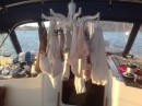 Laundry day aboard Scout