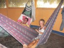 relaxing in our hammocks