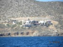 Hillside with beautiful, very large homes in Bahia de los Muertos