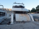 There is a section in Kalymnos harbour where boats come to die