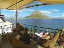 In Mirties on Kalymnos with Telenos on the other side of the water