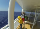 On the ferry to Thira or Santorini