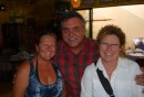 The owner at Tequilas Sunrise with Rina and Josie