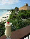 Pina Colada at Highborne Cay restaurant