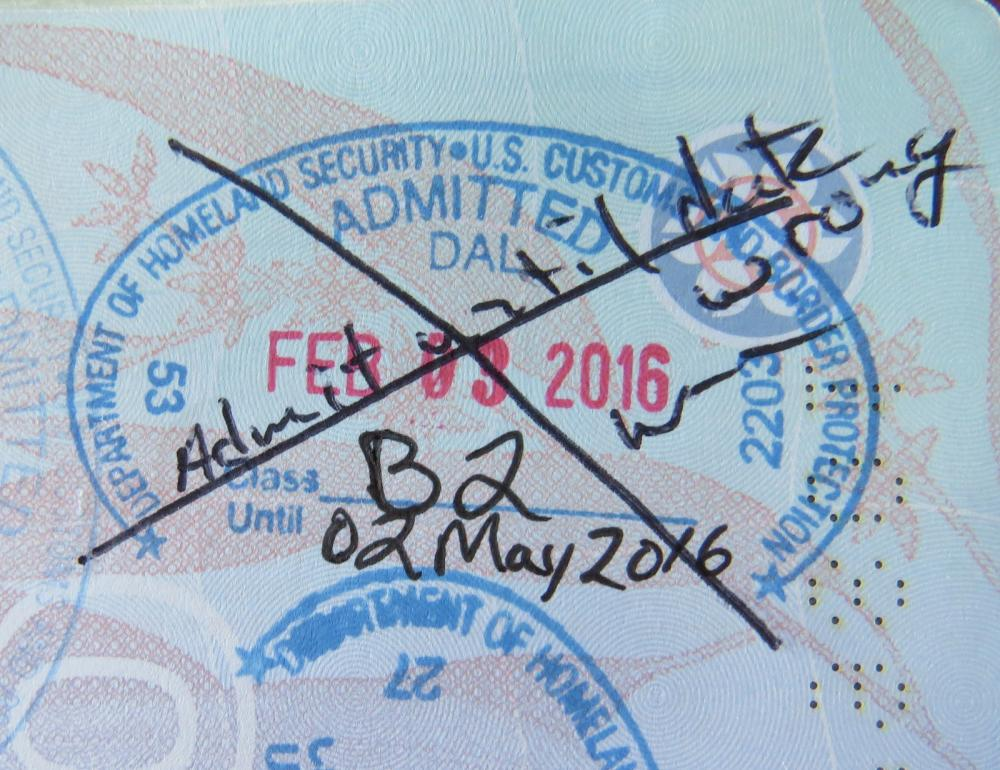 2 May 2016 Customs Stamp
