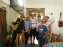 Charly, Eugene, Maynard, Vicki, Isaac and Anna at La Candelaria Organic Coffee Farm in Minca, Colombia