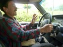 Charly from Charly Tours driving us up to the coffee farm near Minca