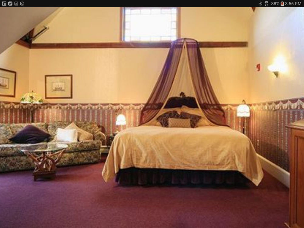 This was our room, Rm 8.  It had a loft with a bed where the laughing ladies were probably standing while we slept.  (Photo from the internet).
