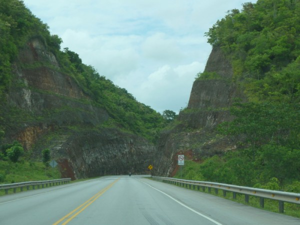 Highway 7 north to Samana through karst topography