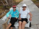 Alison and Vicki in an Adirondack chair