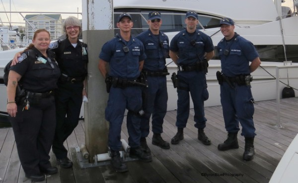 Friendly Customs & Border Protection Officers and US Coast Guard Officers, Charleston, South Carolina, USA