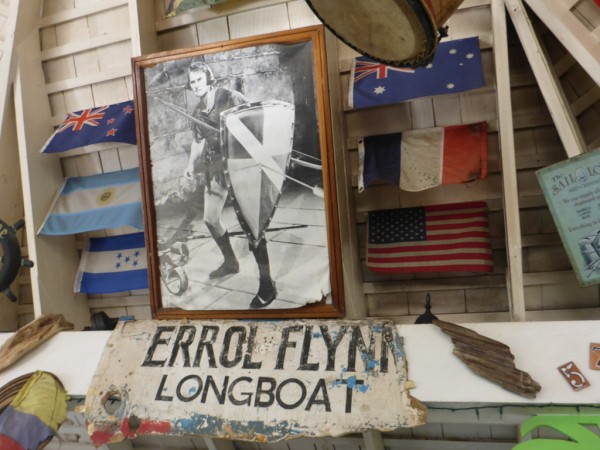 Tribute to Errol Flynn in the poolside bar