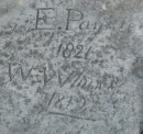 1821 and 1812 historical graffiti in the rocks