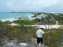 Climbing back down one of Caicos