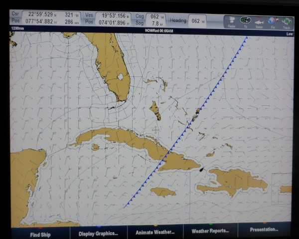 Front stalling over Cuba.  Vanish is located in the Windward Passage between Cuba and Haiti