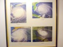 4 hurricanes over the Bahamas.