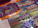 Mola bracelets and mola blouse in Bocas Town